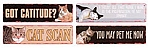 Cats Welcome Metal Signs Set of 4