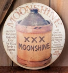 Moonshine Metal Sign