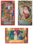 Father Christmas Tin Signs Set of 3