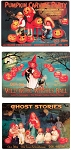 Vintage Halloween Metal Signs Set of 3