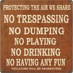 Protecting The Air We Sharein Vintage Metal Sign