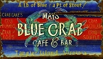 Mays Blue Crab Cafe and Bar Antiqued Wood Sign