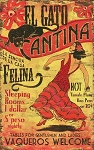 El Gato Cantina Antiqued Wood Sign