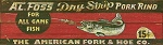 Foss Fly Lure Fishing Shop Antiqued Wood Sign
