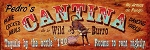 Pedro's Cantina de la Wild Burro Antiqued Wood Sign