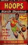 Hoops March Shootout Basketball Antiqued Wood Sign