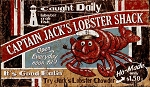 Captain Jack's Lobster Shack Antiqued Wood Sign