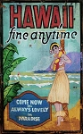 Hawaii Fine Anytime Antiqued Wood Sign