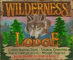 Wilderness Lodge Antiqued Wood Sign