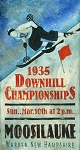 Downhill Championships Moosilauke Antiqued Wood Sign