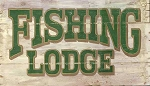 Fishing Lodge Antiqued Wood Sign