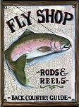 Fly Fishing Shop Antiqued Wood Sign