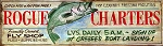 Rogue Charters and Fly Shop Antiqued Wood Sign