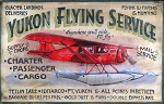 Yukon Aviation Airplane Vintage Antiqued Wood Sign