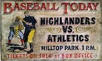 Baseball Today Vintage Antiqued Wood Sign