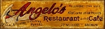 Angelo's Restaurant and Cafe Antiqued Wood Sign