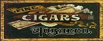 Fine Cigars Tobacco Antiqued Wood Sign