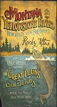Montana and Yellowstone River Antiqued Wood Sign