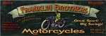 Franklin Brothers Motorcycles Antiqued Wood Sign