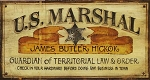U.S. Marshall Antiqued Wood Sign