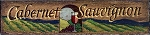 Cabernet Sauvignon Word Antiqued Wood Sign