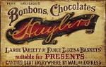 Chocolate Shop Antiqued Wood Sign