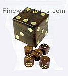 Dice Set with Brass Inlaid