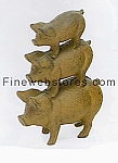 Pig Stack Rust Cast Iron Door Stop