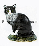 Large Tomcat Cast Iron Door Stop