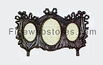 Antique Black Trio Picture Frame