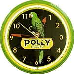 Polly Gas Neon Clock