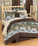 River Fishing Lodge Style Comforter and Bedding