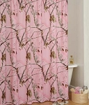 AP Pink Camouflage Shower Curtain Set