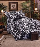 Zebra Black and White Stripes Comforter and Bedding