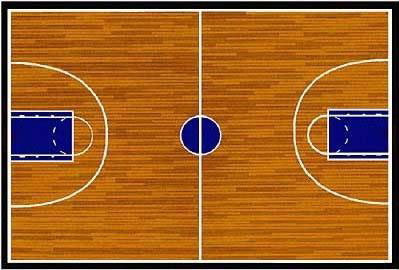 Basketball Court Rug 19 Quot X 29 Quot