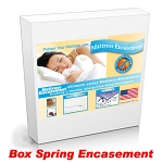 Short Queen Box Spring Encasement Cover Protection from Bed Bugs and Dust Mites