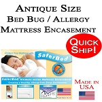 Quick Ship! Antique Size Bed Bug and Allergy Mattress Encasement