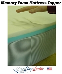 84 Inch Round Bed Memory Foam Mattress Topper