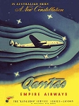 Qantas Constellation Vintage Metal Sign