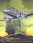 KLM Airlines Vintage Tin Sign