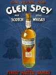 Glen Spey Scotch Whisky Metal Sign