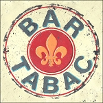 Bar Tabac Vintage Metal Sign