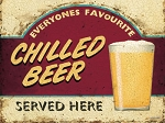 Chilled Beer Vintage Metal Sign