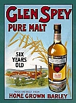Glen Spey Pure Malt Alcohol Tin Sign