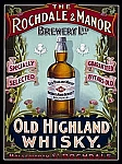 Old Highland Whisky Vintage Alcohol Tin Sign