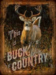 Buck Country Vintage Metal Sign