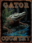 Gator Country Vintage Metal Sign