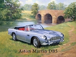 DB5 Aston Martin Vintage Metal Sign