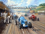 Road Racing at Brookland Vintage Metal Sign