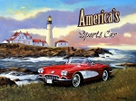 Corvette America's Sports Car Vintage Metal Sign